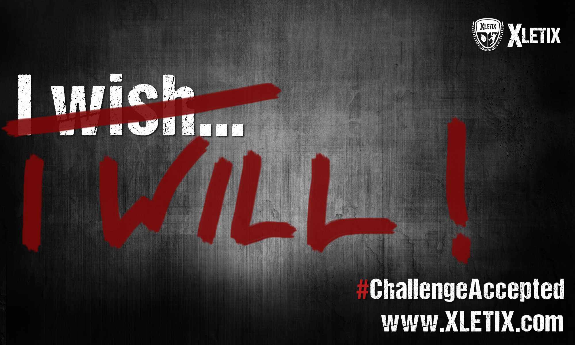 "Motivational quote, Sportmotivation ""I will"""