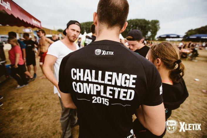 Ein atmungsaktives Finisher-Shirt im Ziel (nur wenn du ankommst)